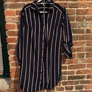 Navy, Red, White Tshirt dress with belt